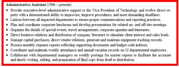 administrative assistant skills list