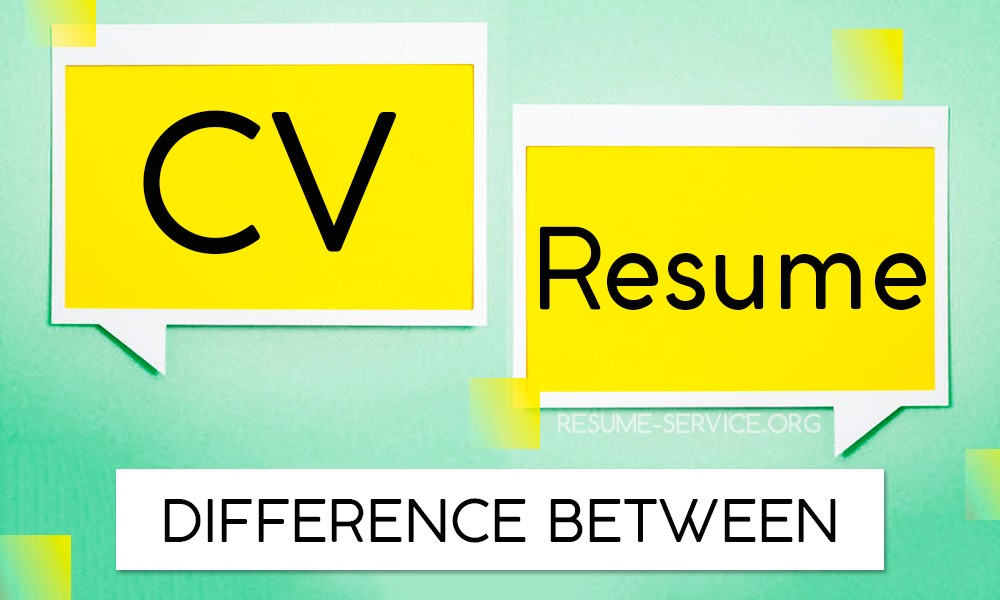 Difference between CV and Resume Key Points resume-serviceorg