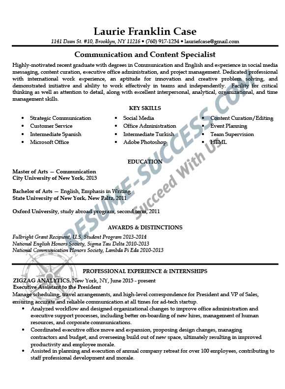 Sample resumes \u2013 Resume Success