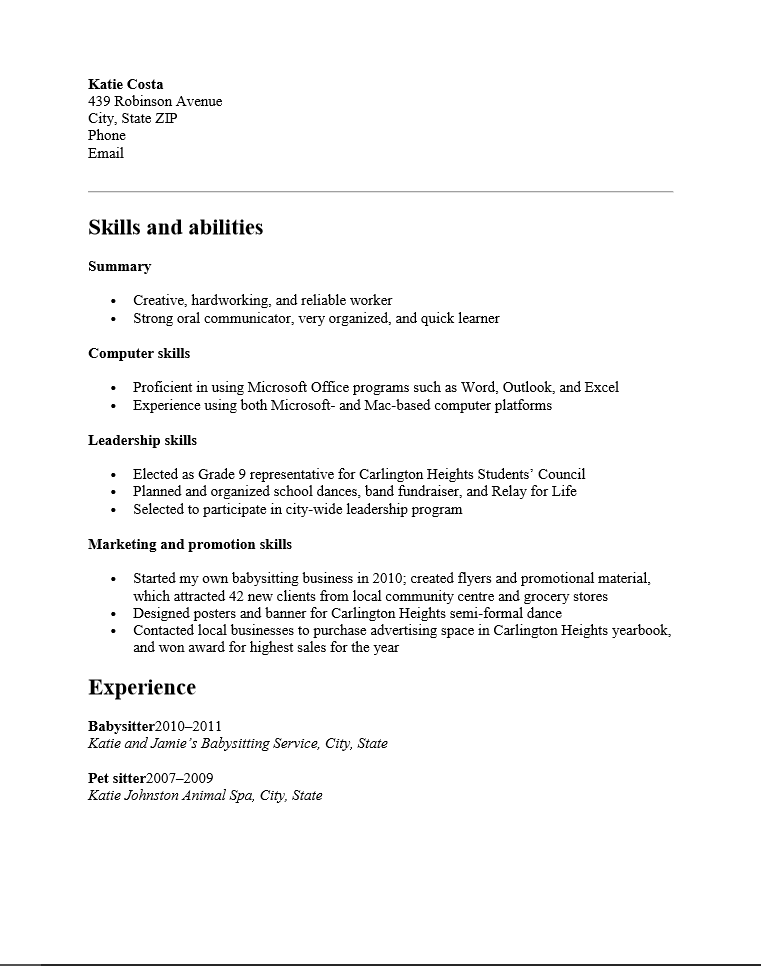 High School Resume Examples And Writing Tips The Balance Free Functional High School Student Resume Template