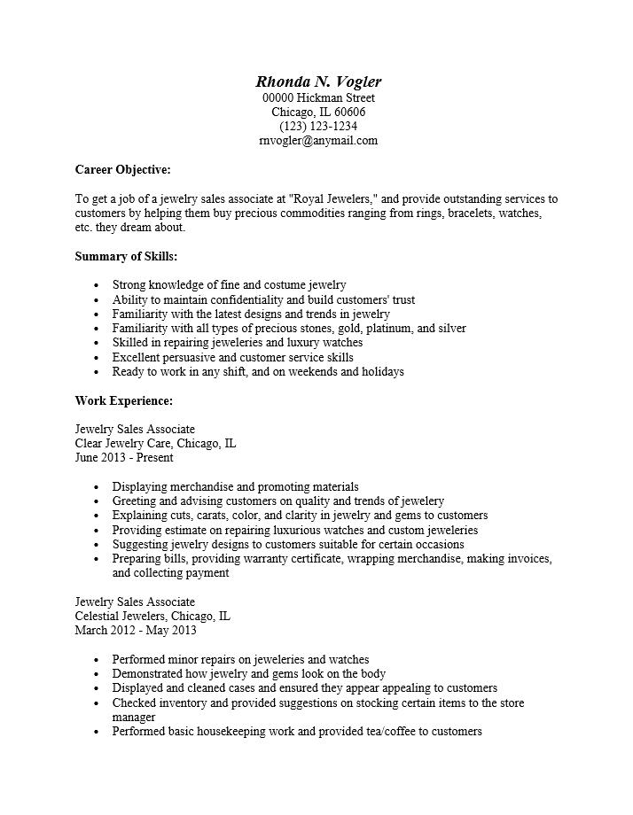 sales associate resume samples jobhero