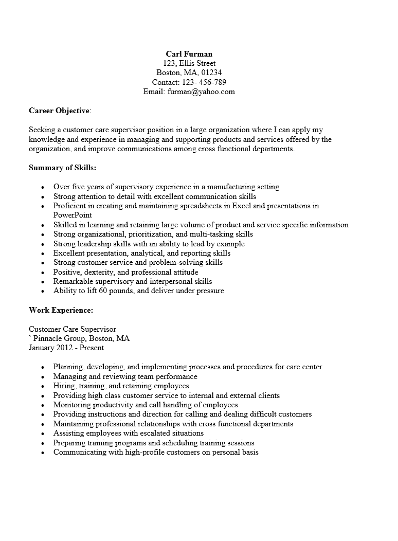 Product Merchandiser Sample Resume Data Entry Supervisor Sample