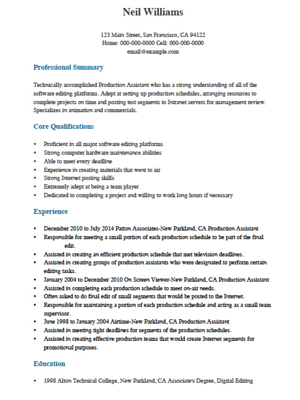Oral Surgery Assistant Resume Dental Assistant Resume Sample Career Enter  Free Professional Production Assistant Resume Template