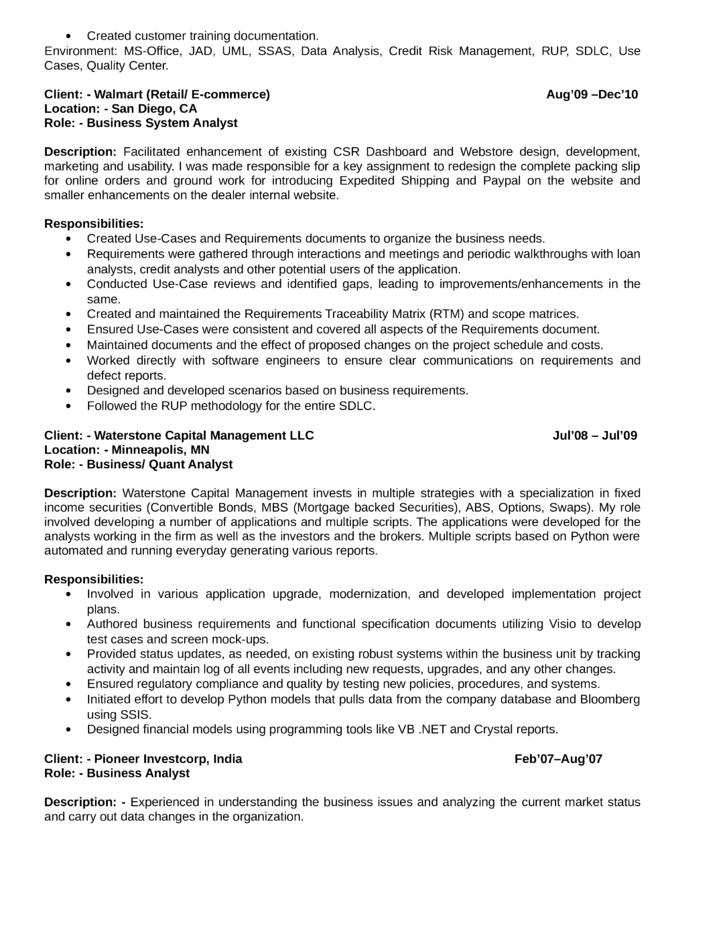 Quantitative analyst cover letter