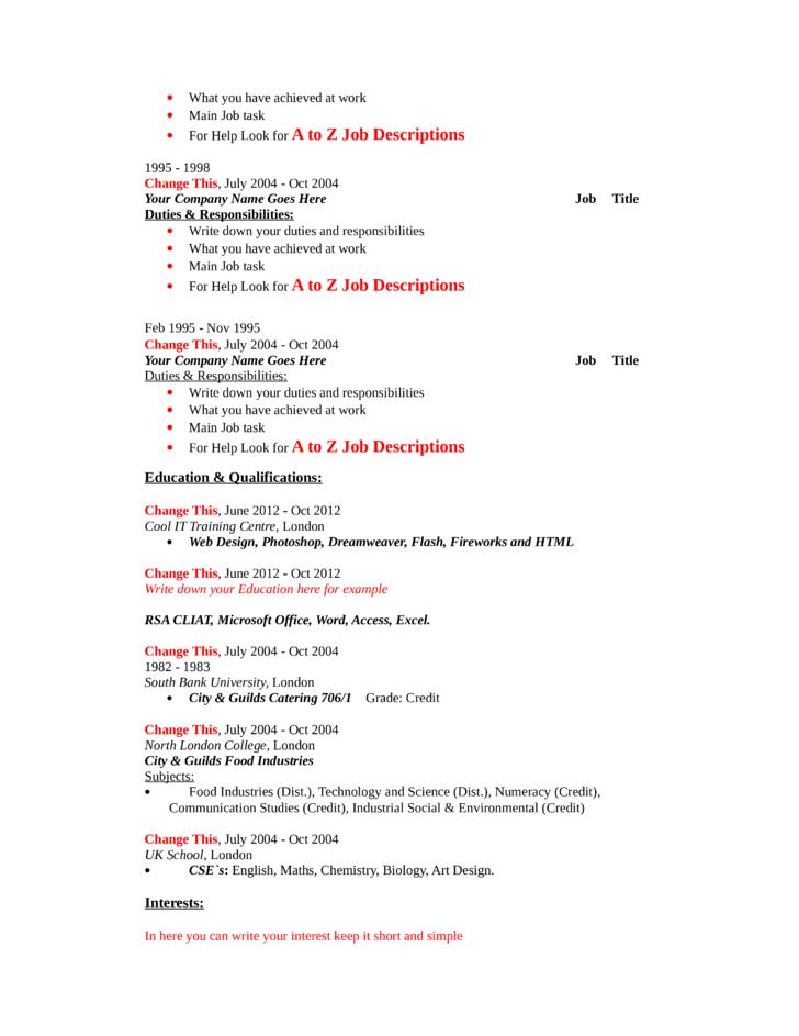 machinist resume templates free