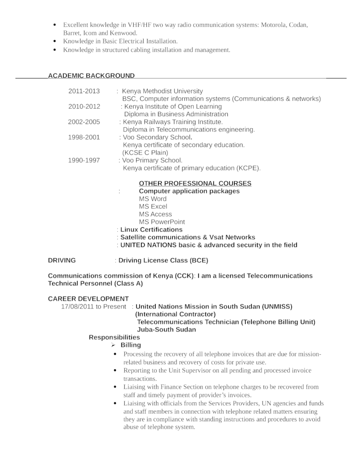 resume university application examples