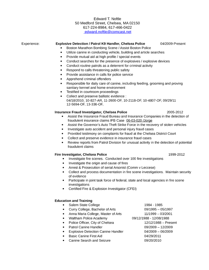 sample resume for usa jobs fire