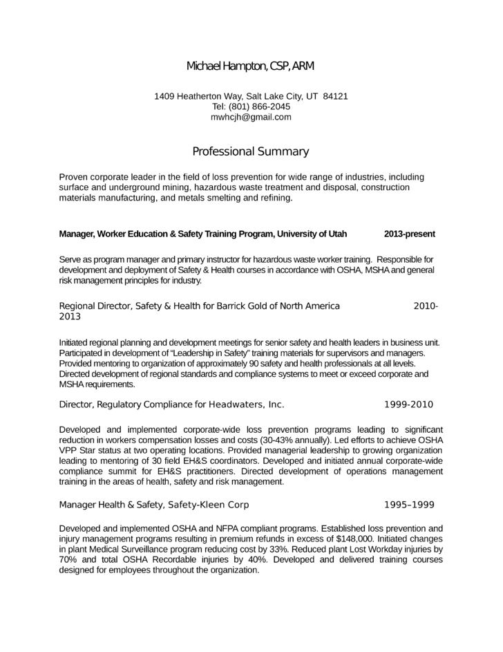 loss prevention manager resume templates
