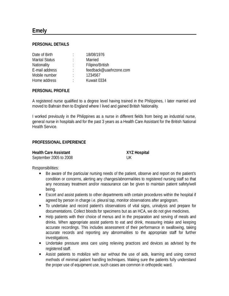 how to write chronological resume