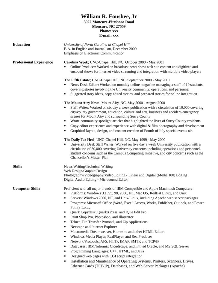 resume for video editor radiovkmtk