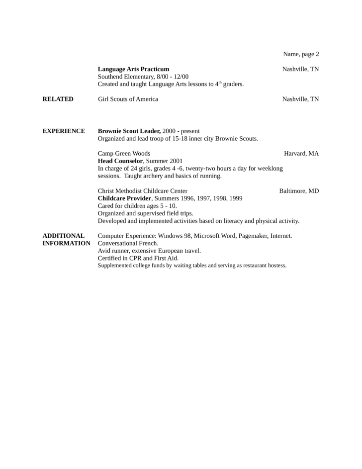 online resume maker free for teacher