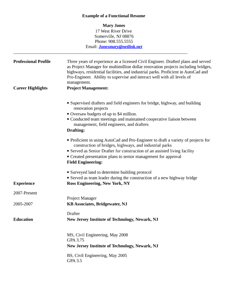 Resume Format For Experienced Civil Engineers Resume Template Ideas