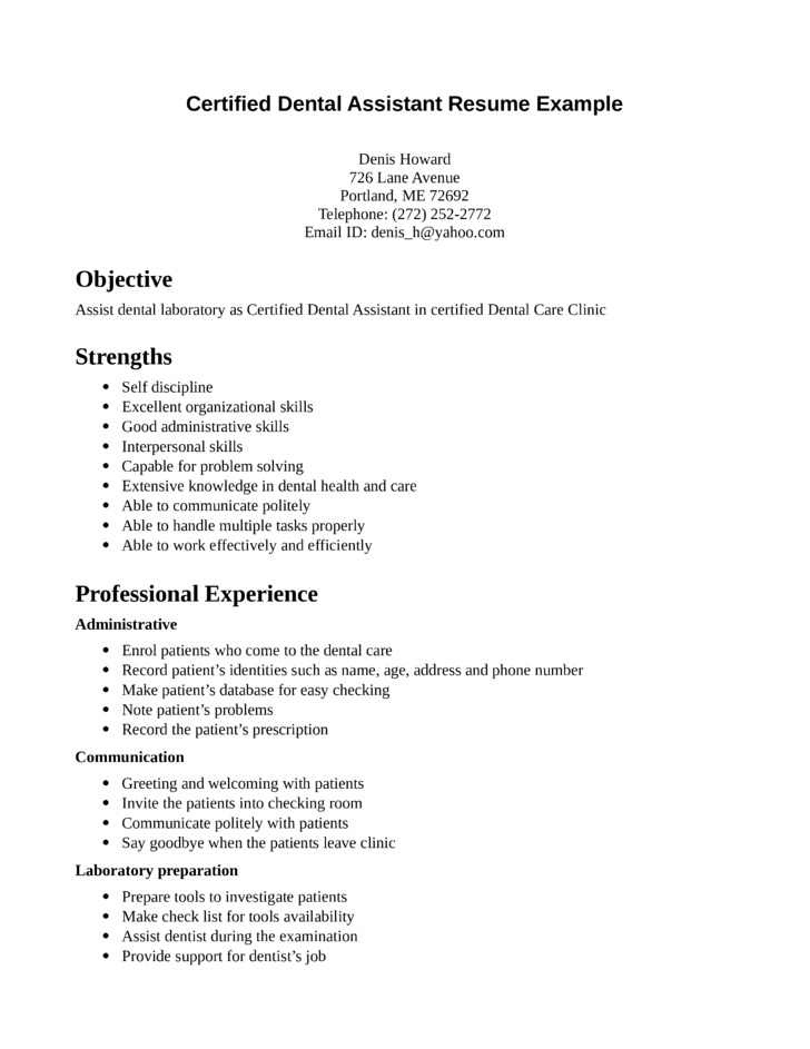 Dental Lab Technician Resume By Top