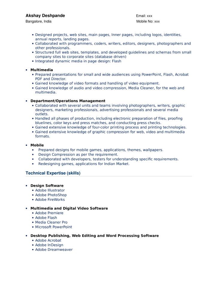 resume maker in bangalore