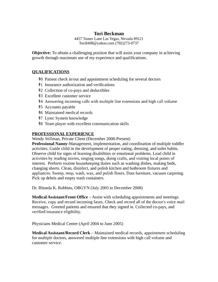 customer clerk resume – Medical Record Clerk Job Description