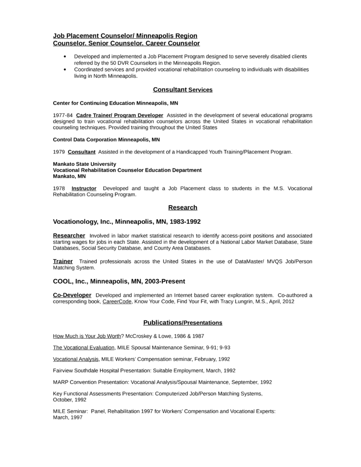 Career Counselor Resume Career Counselor Resumes Counselors Resume Examples  Community And Public Service Resumes Camp Counselor