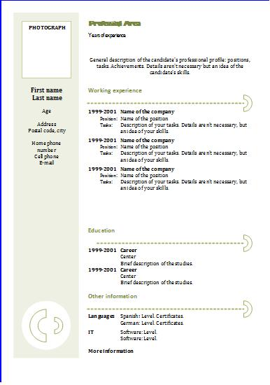 Chronological Resume Definition Format Layout 103 Cv Templates Chronological 3 Resume Templates