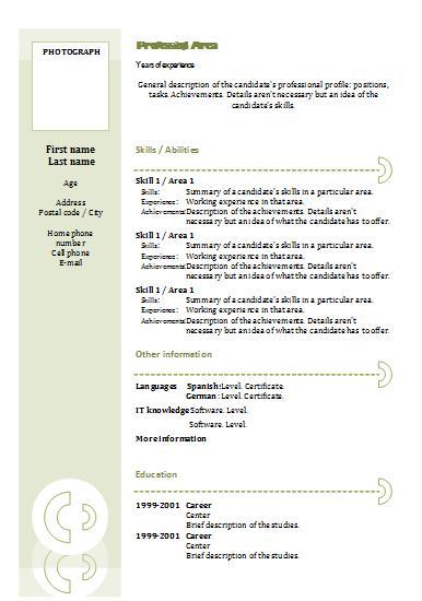 Combination CV Templates Resume templates - it cv template