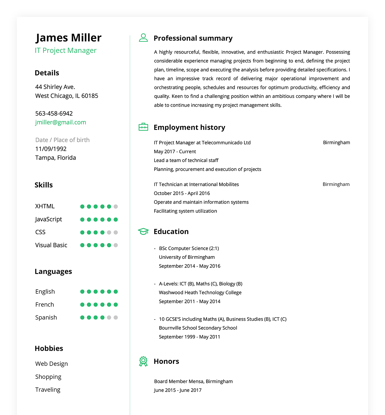 approved resume templates built