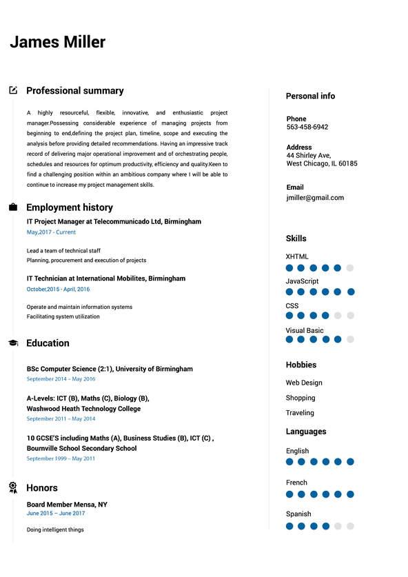 Online Resume Builder Resume builder - Online Resume Builder