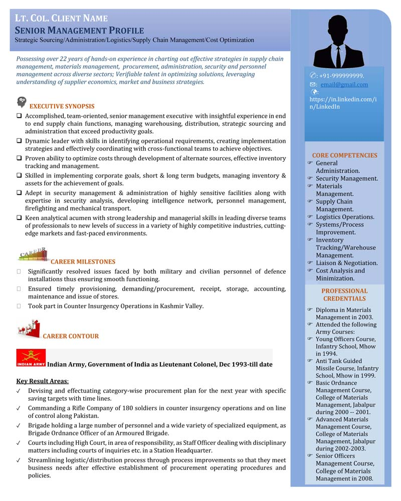 senior management executive resume examples