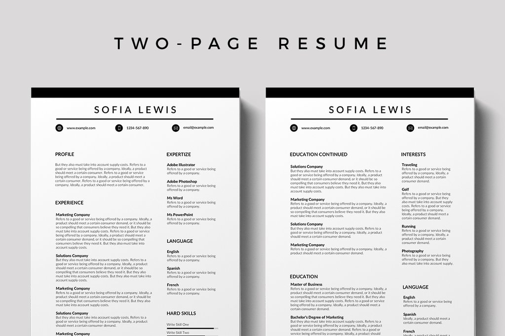 Bourges Free Resume Template