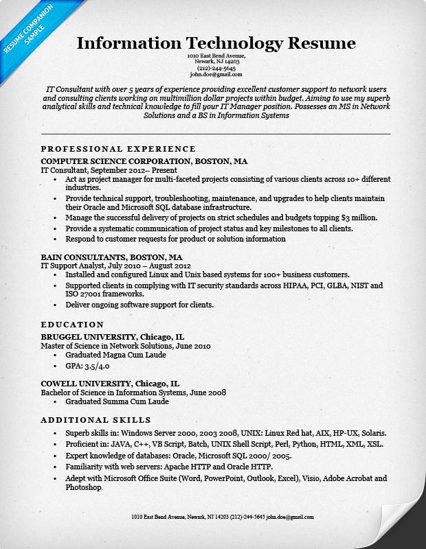 Commercetools.us ] It Resume Templatepilot resume template ...
