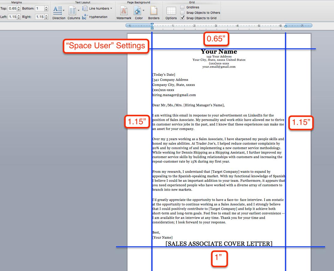 cv layout margins free resume sles writing guides