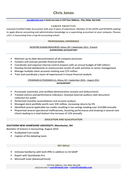 personal profile example for undergraduate resume
