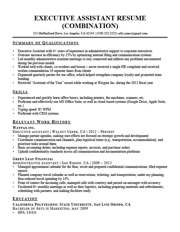 resume summary for legal assistant