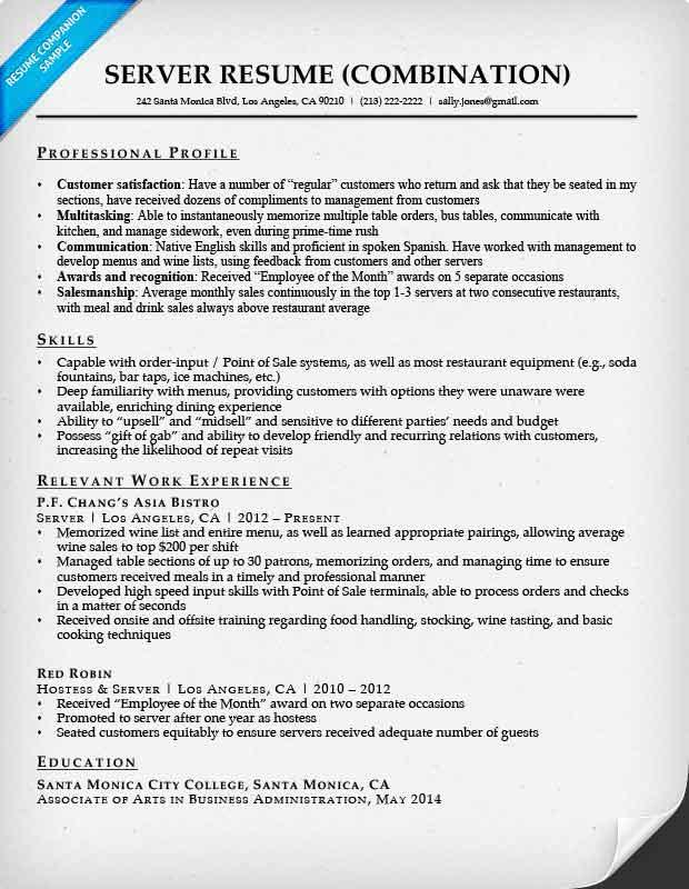 Combination Resume Samples Resume Companion - combination resume samples