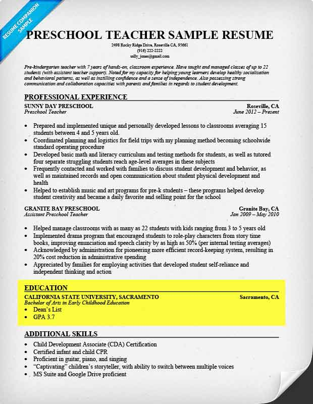 How to Write a Resume Step-by-Step Guide Resume Companion - education section of resume