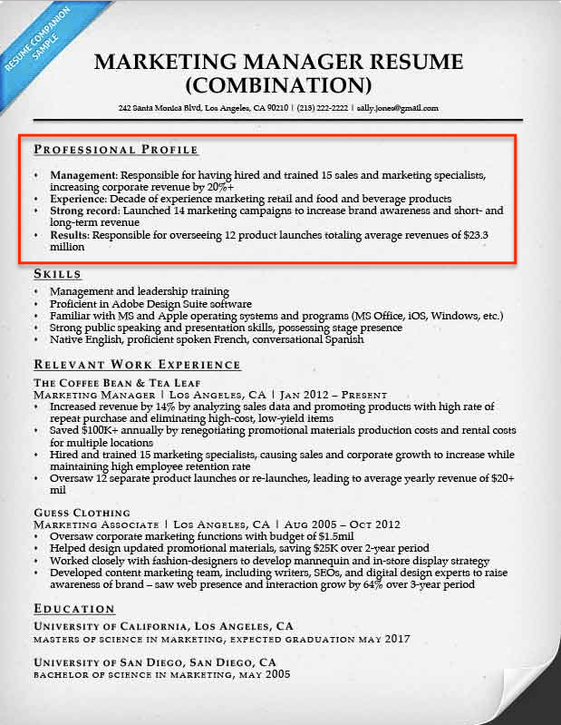 how to write a resume profile resume profile examples for many job openings create a resume - Resume Profile Examples
