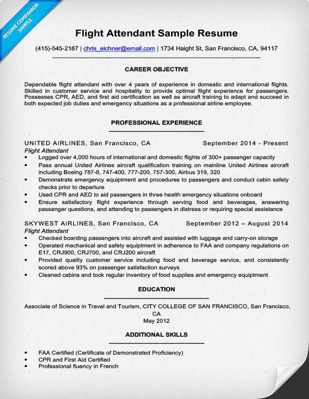 flight attendant job description resume sample - Ozilalmanoof