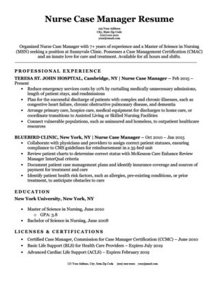 Registered Nurse (RN) Resume Sample  Tips Resume Companion