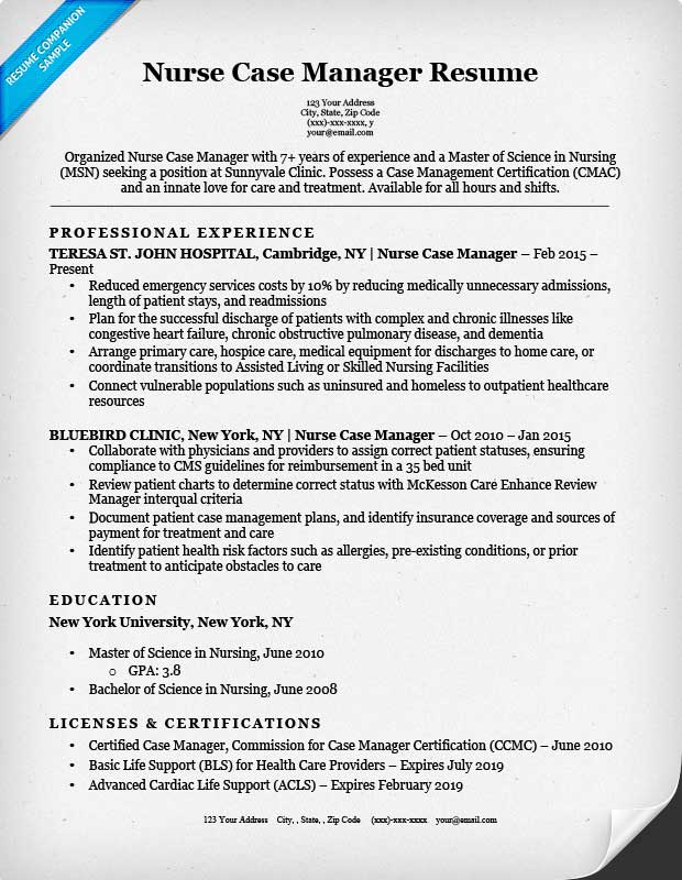case manager resume - Onwebioinnovate - disability case manager sample resume