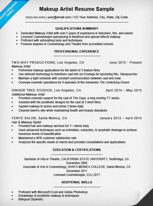 Cosmetic Resume Examples - Examples of Resumes - cosmetic representative sample resume