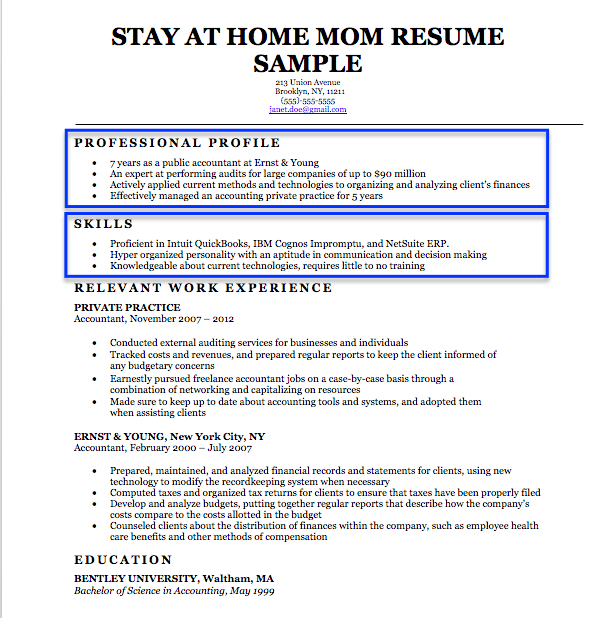 how to write a resume stay at home resume writing