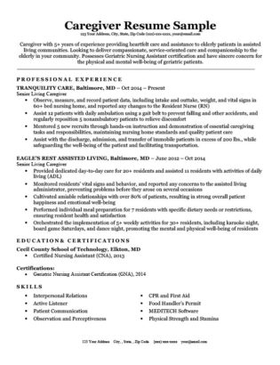 Caregiver Cover Letter Sample  Writing Tips Resume Companion