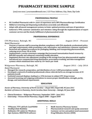 Pharmacist Cover Letter Sample Resume Companion
