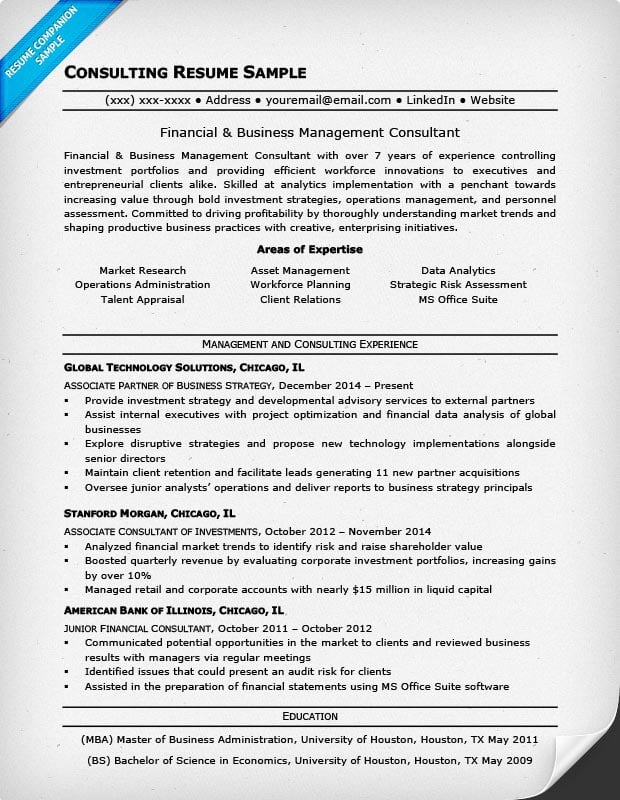 Consulting Resume Consulting Cv Template Consulting Cv Template