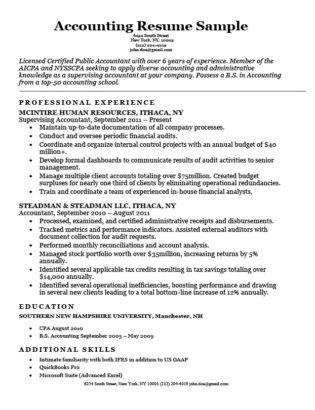Entry-Level Accounting Resume Sample  4 Writing Tips RC - Resume Format For Accountant