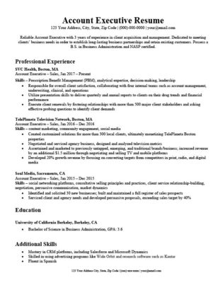 Account Executive Cover Letter  Writing Tips Resume Companion - Executive Resume Cover Letter