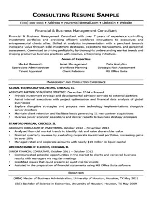 Consulting Cover Letter Sample  Writing Tips Resume Companion