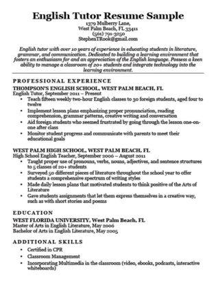 Preschool Teacher Resume Sample  Writing Tips Resume Companion