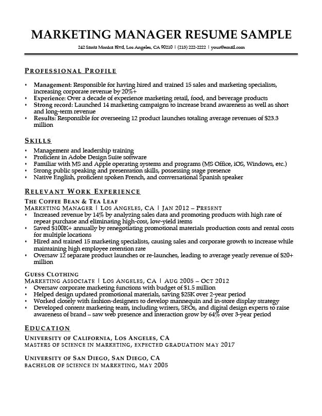 Combination Resume Samples Resume Companion