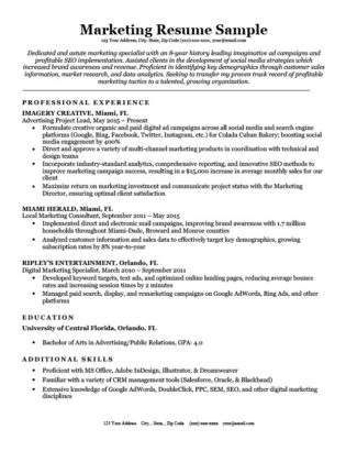 Marketing Cover Letter Sample  Writing Tips Resume Companion