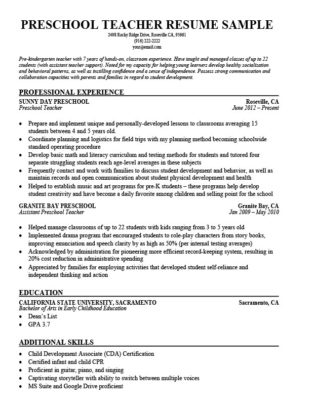Elementary Teacher Resume Sample  Writing Tips Resume Companion