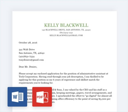 Cover Letter Builder Personalized Templates Done in 15 Minutes