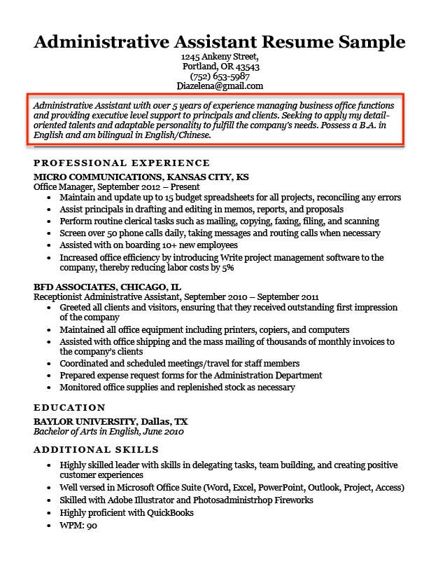 Resume Objective Examples for Students and Professionals RC - Objective In Resume Sample
